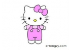 Hello Kitty2¼ò±Ê»­»­·¨£¨·Ö²½£©,Hello Kitty2¼ò±Ê»­Í¼Æ¬